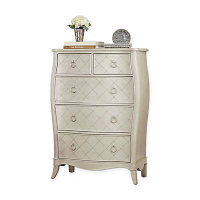 Hillsdale Angela 5-Drawer Chest in Opal Grey
