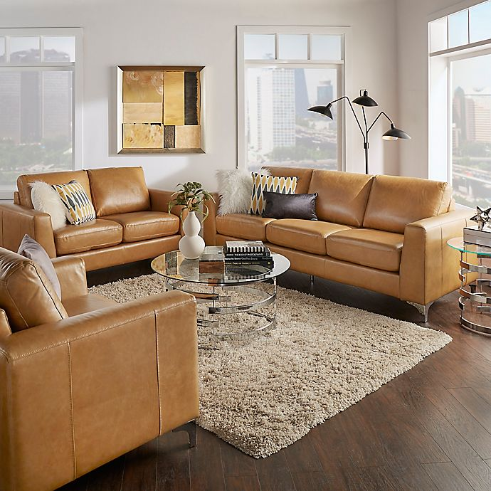 Living Room Bed Bath And Beyond: INSPIRE Q® Baldwin Living Room Leather Furniture