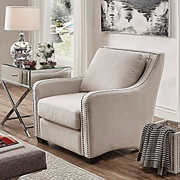 Verona Home Beatrice Arm Chair in Off White