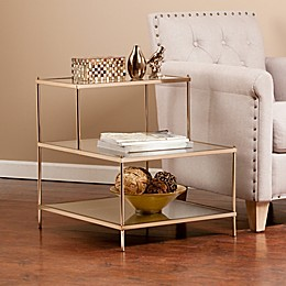 Southern Enterprises Knox Accent Table in Gold