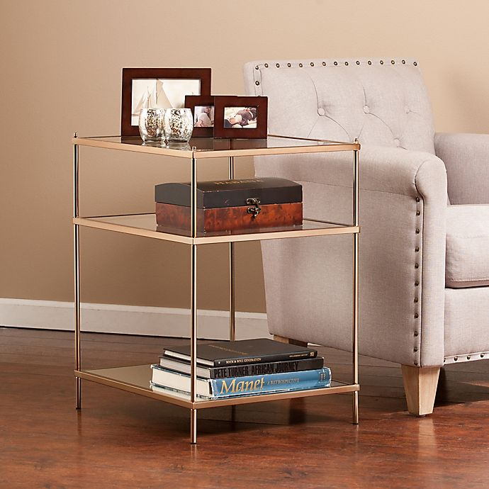 Alternate image 1 for Southern Enterprises Knox Side Table in Gold