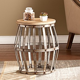 Southern Enterprises Mencino Accent Table in Antique Silver