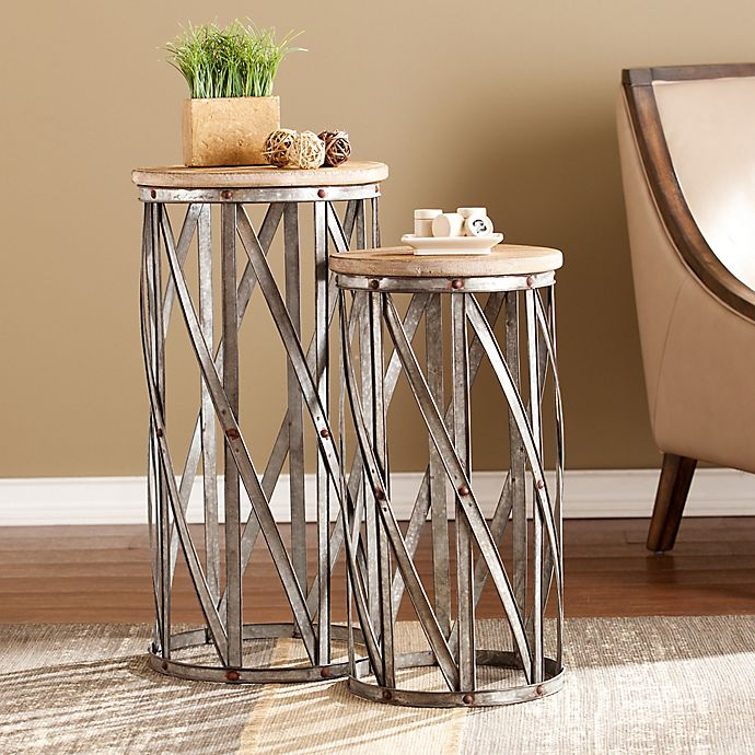 Southern Enterprises Mencino Accent Tables In Antique