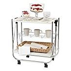 IRIS® Foldable Serving Cart in White