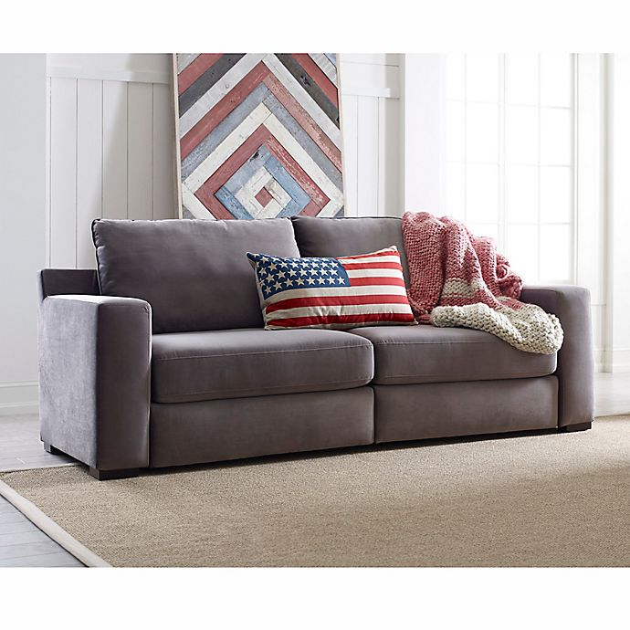 Remarkable Tommy Hilfiger Elyse Sofa In Grey Bed Bath Beyond Machost Co Dining Chair Design Ideas Machostcouk