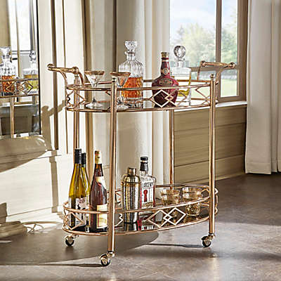 Verona Home Granville Bar Cart in Rose Gold