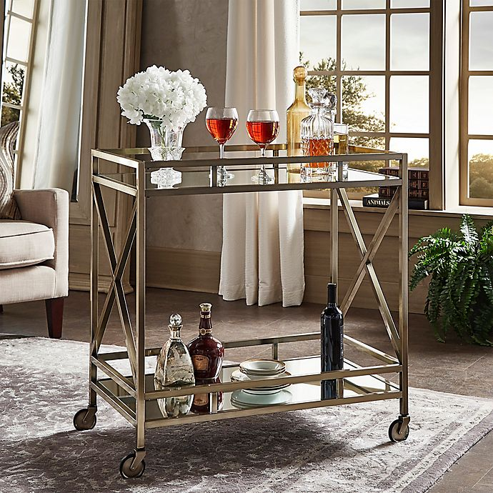 Inspire Q Grenshaw Bar Cart In Antique Brass Bed Bath Beyond