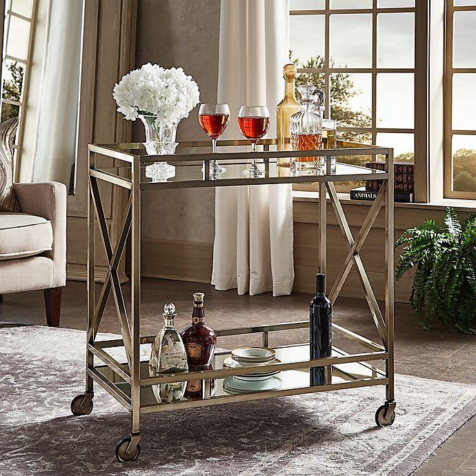Kitchen Bath Beyond: INSPIRE Q® Grenshaw Bar Cart In Antique Brass