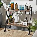 Verona Home Gordon Wood/Metal Bar Cart in Brown