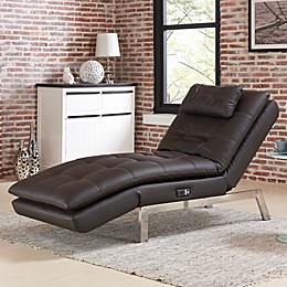 Vaugn Convertible Chaise in Brown