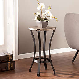 7117576b110 Southern Enterprises Lisbon Round Accent Table in Grey