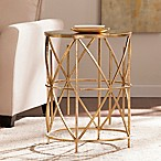 Southern Enterprises Starina Accent Table in Antique Gold