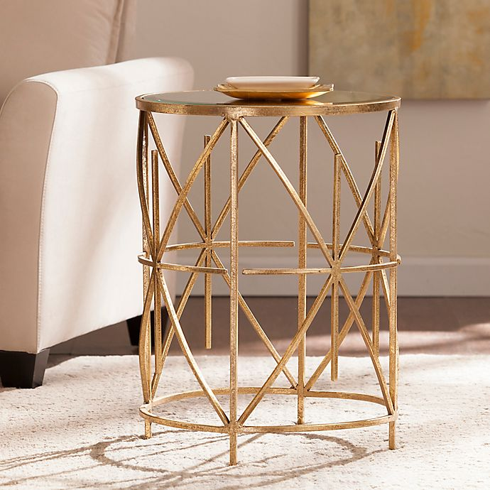 Alternate image 1 for Southern Enterprises Starina Accent Table in Antique Gold
