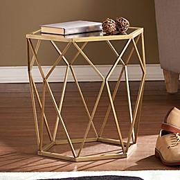 Southern Enterprises Joelle Accent Table in Bronze
