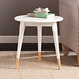 Southern Enterprises Alden Round Side Table in White