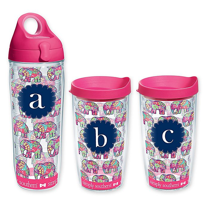 4f814a6a8da Tervis® Elephant Wrap Monogram Letter Water Bottle with Lid | Bed ...