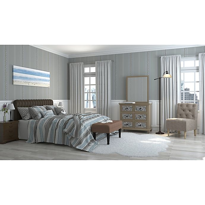 Alternate image 1 for Serene Stripes Bedroom