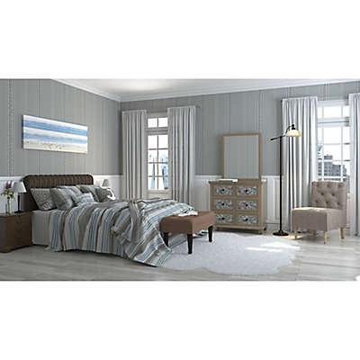 Serene Stripes Bedroom