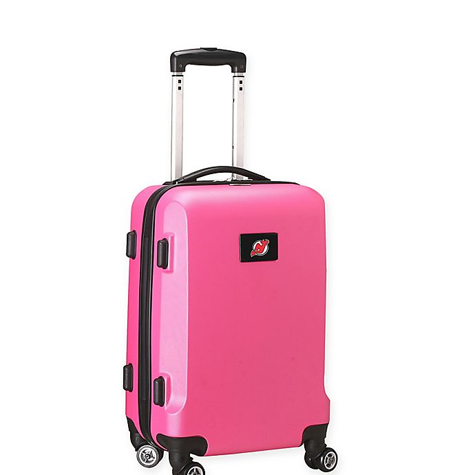 Alternate image 1 for NHL New Jersey Devils 20-Inch Hardside Carry On Spinner in Pink