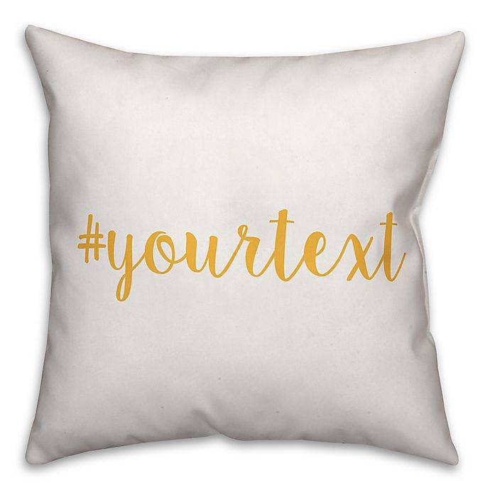 Alternate image 1 for Designs Direct Script Font Hashtag Square Throw Pillow