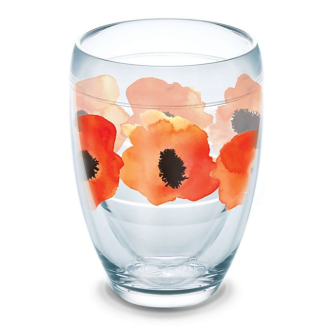 Alternate image 1 for Tervis® Watercolor Poppy Wrap 9 oz. Stemless Wine Glass