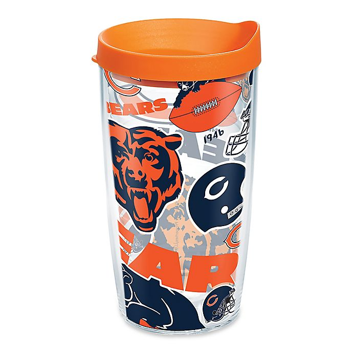 Alternate image 1 for Tervis® NFL Chicago Bears 16 oz. Allover Wrap Tumbler with Lid