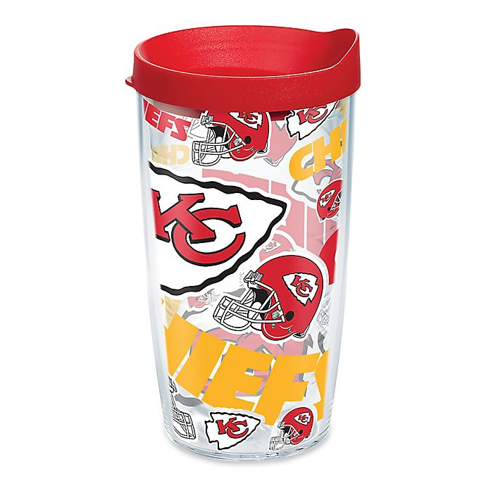 Alternate image 1 for Tervis® NFL Kansas City Chiefs 16 oz. Allover Wrap Tumbler with Lid