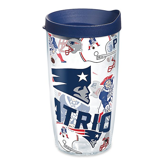Alternate image 1 for Tervis® NFL New England Patriots 16 oz. Allover Wrap Tumbler with Lid