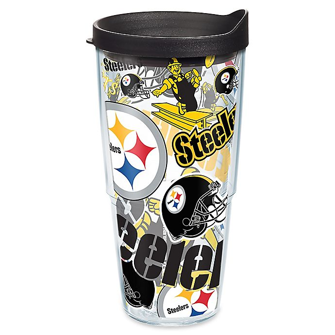 Alternate image 1 for Tervis® NFL Pittsburgh Steelers 24 oz. Allover Wrap Tumbler with Lid