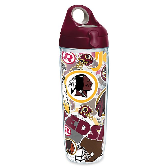 Alternate image 1 for Tervis® NFL Washington Redskins 24 oz. Allover Wrap Water Bottle with Lid