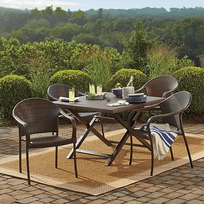 Barrington Wicker Folding Dining Table Bed Bath And