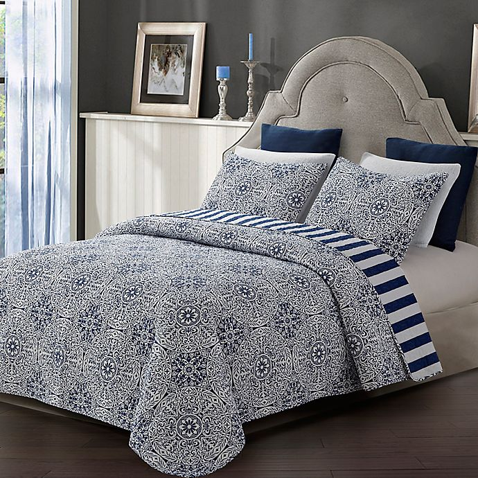 Alternate image 1 for Tyra Quilt Set in Blue