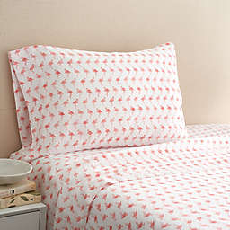 Coastal Life Flamingo 300-Thread-Count California King Sheet Set in Pink