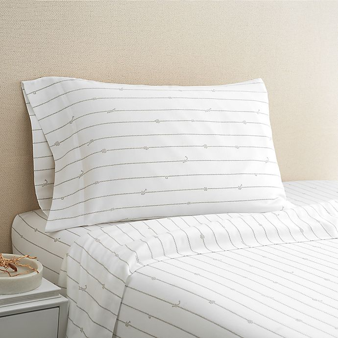 Alternate image 1 for Coastal Life Rope 300-Thread-Count California King Sheet Set in Taupe
