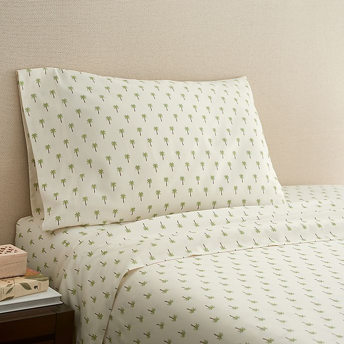 Alternate image 1 for Coastal Life Palm 300-Thread-Count California King Sheet Set in Green