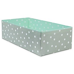 Home Traditions Polka Dot Drawer Organizers in Aqua/Grey