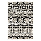 Magnolia Home by Joanna Gaines Lotus 3'6 x 5'6 Area Rug in Black/Silver