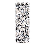 Magnolia Home by Joanna Gaines Lotus 2-Foot 6-Inch x 7-Foot 6-Inch Runner in Blue/Ivory