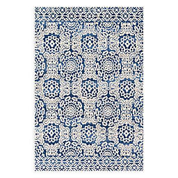 Magnolia Home by Joanna Gaines Lotus 3'6 x 4'8 Accent Rug in Blue/Ivory