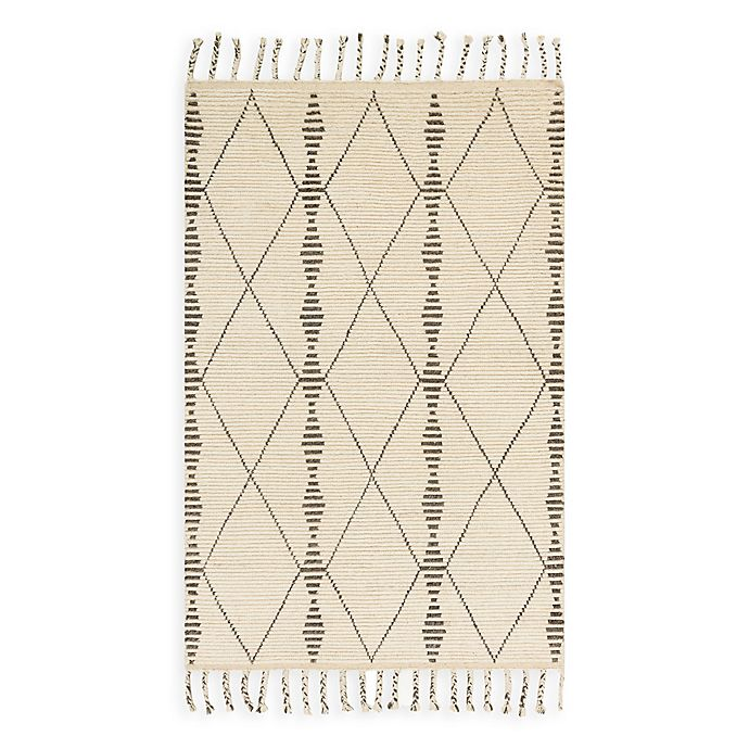 Alternate image 1 for Magnolia Home by Joanna Gaines Tulum 5-Foot 6-Inch x 8-Foot 6-Inch Area Rug in Ivory/Pebble