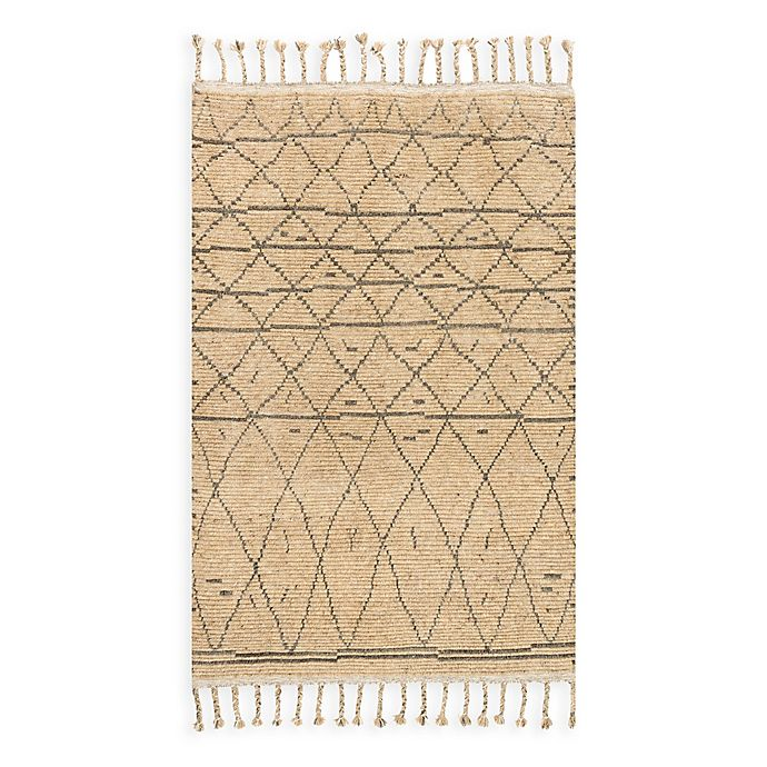 Alternate image 1 for Magnolia Home by Joanna Gaines Tulum 9-Foot 6-Inch x 13-Foot 6-Inch Area Rug in Natural/Grey
