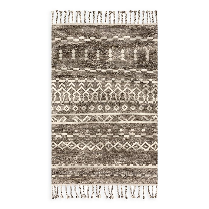 Alternate image 1 for Magnolia Home by Joanna Gaines Tulum 9-Foot 6-Inch x 13-Foot 6-Inch Area Rug in Ash/Ivory