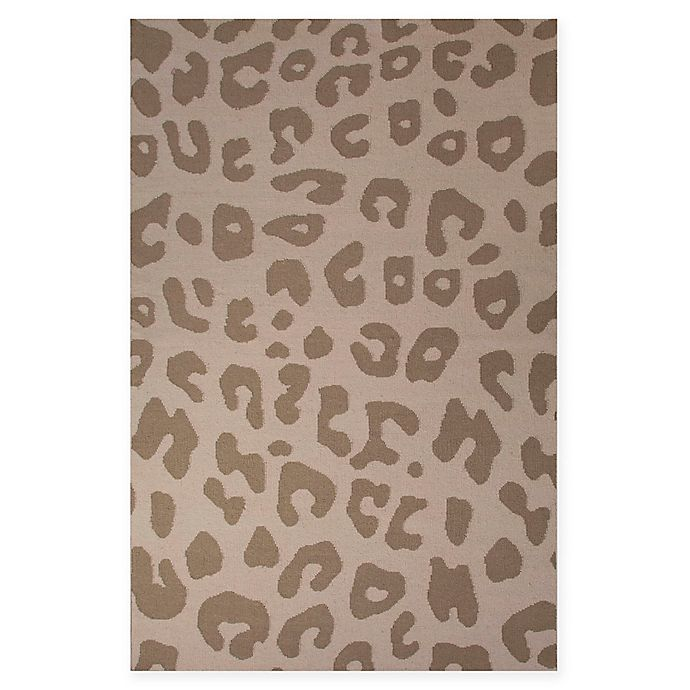 Alternate image 1 for Jaipur National Geographic Home Flat Weave Jaguar 8-Foot x 10-Foot Area Rug in Light Brown