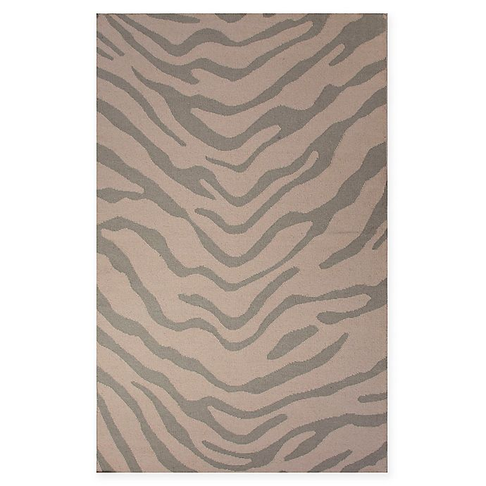 Alternate image 1 for Jaipur National Geographic Home Flat Weave Tiger 5-Foot x 8-Foot Area Rug in Brown/Grey