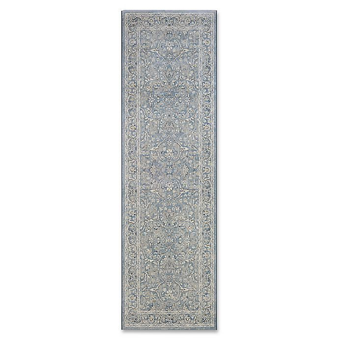Alternate image 1 for Couristan® Sultan Treasures Floral Yazd 2-Foot 7-Inch x 7-Foot 10-Inch Runner in Slate Blue