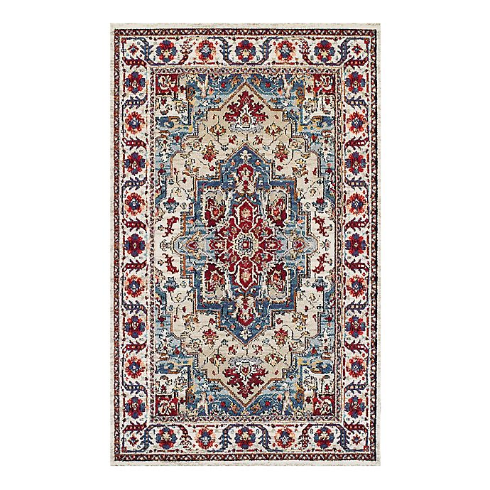 Alternate image 1 for Couristan® Vintage Floral Sarouk 3-Foot 11-Inch x 5-Foot 3-Inch Area Rug in Putty/Claret