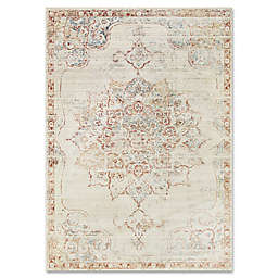 ED Ellen DeGeneres Trousdale 2-Foot 6-Inch x 4-Foot Accent Rug in Ivory/Red