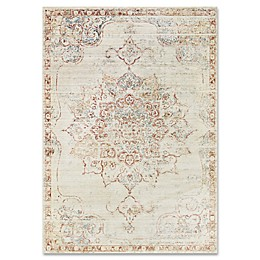 ED Ellen DeGeneres Trousdale Rug in Ivory/Red