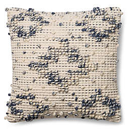 Magnolia Home Lexi 18-Inch Square Throw Pillow in Blue/Ivory