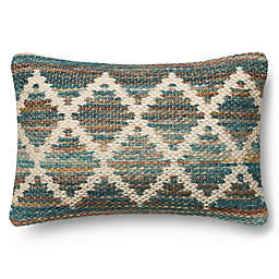 Magnolia Home Virginia 13-Inch x 21-Inch Oblong Throw Pillow in Teal